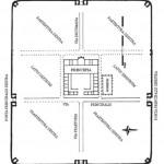 Planul Castrului Roman de la Racarii de Jos realizat de arheolog Dorel Bondoc