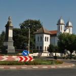 Biserica Adormirea Maicii Domnului Calafat - vedere dinspre Piata Calafat