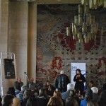 Moderatoarea intalnirii - conf. univ. dr. Gabriela Rusu Pasarin