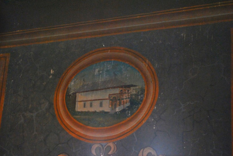 Biserica Sf Nicolae Brandusa Craiova - pictura in pronaos