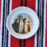 Farfurioara magnet cu imagini din Craiova