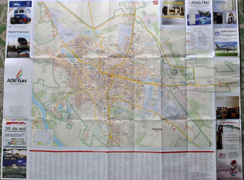 Harta Turistica Craiova Fata Monumente Oltenia