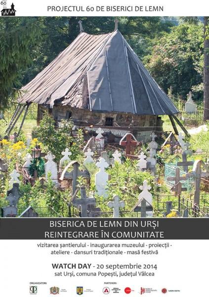 Invitație la Watch Day la Biserica din Urși,județul Vâlcea