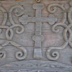 Biserica lui Horea, Băile Olănești - detaliu sculptat