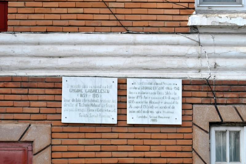Casa Grigore Gabrielescu - placute explicative