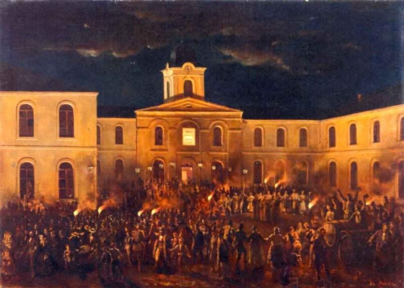 Theodor Aman - Hora Unirii la Craiova (1857)