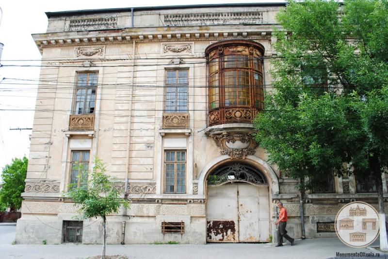 Casa Vrăbiescu, Craiova - fațada estică