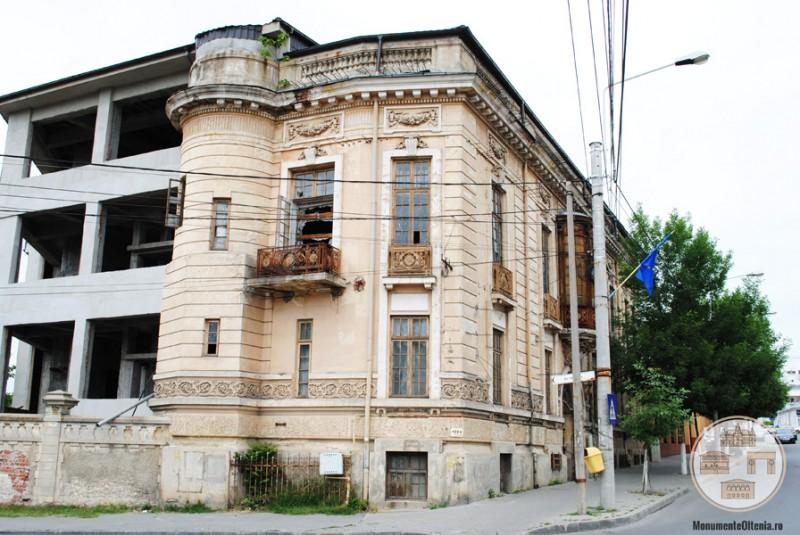 Casa Vrăbiescu, Craiova - fațada sudică