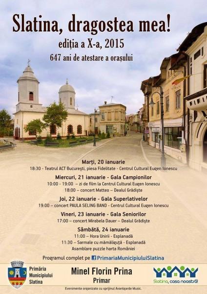 Slatina, dragostea mea 2015