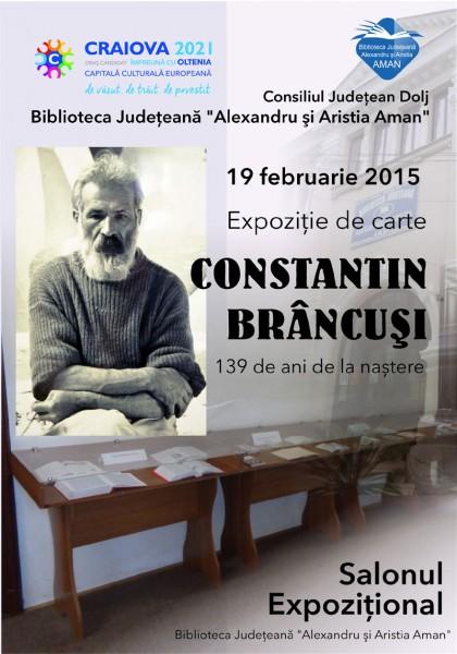 Expozitie de carte Constantin Brancusi - 139 de ani de la nastere