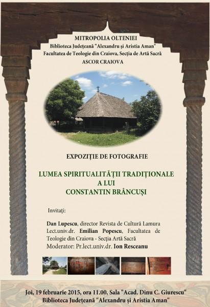 Expozitie de fotografie Lumea spiritualitatii traditionale a lui Constantin Brancusi