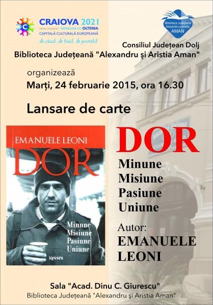 Lansare volum proza Emanuele Leoni