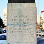 Monumentul Eugeniu Carada, Craiova - inscriptie soclu