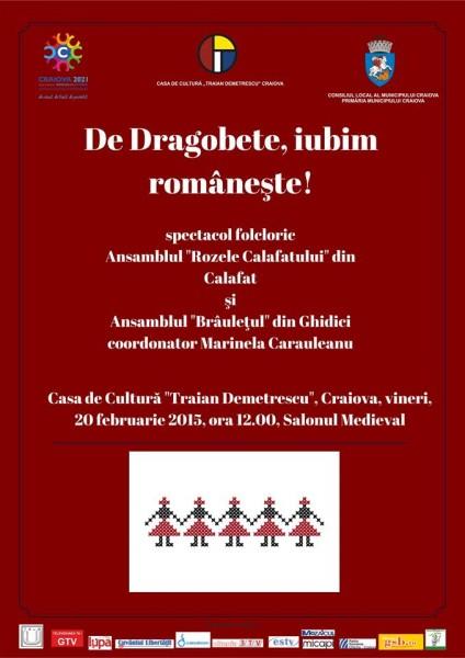 Spectacol folcloric De Dragobete, iubim romaneste