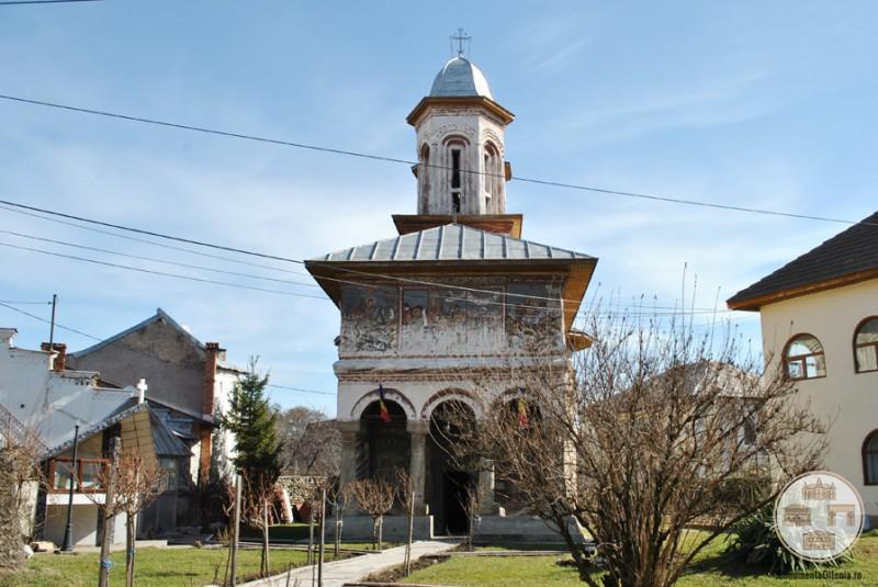 Biserica din Targ, Horezu - vedere frontala
