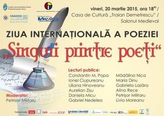 Casa de Cultura Traian Demetrescu Craiova - Singuri printre poeti