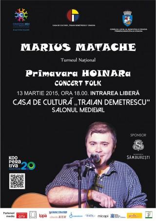 Primavara HOINARa - concert Marius Matache la Craiova
