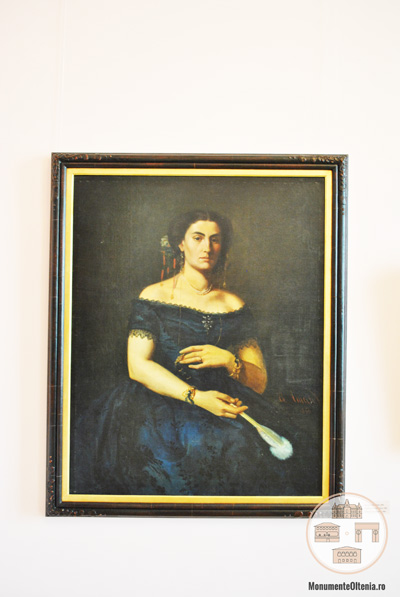 Theodor Aman - Portret Aristia Aman