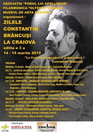 Zilele Constantin Brancusi 2015