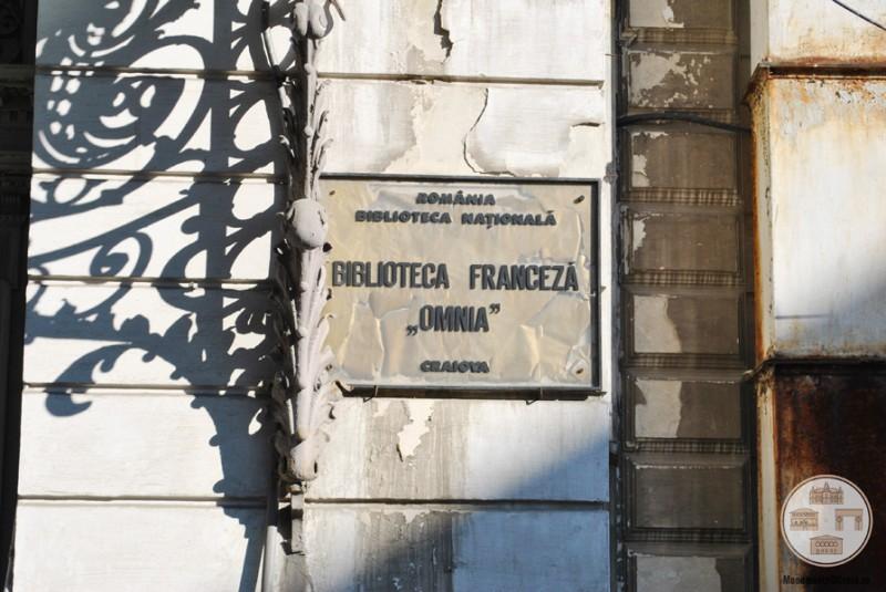 Casa Ionel Plesia, azi Biblioteca Omnia Craiova - placuta institutie