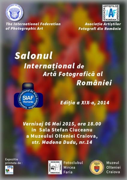 Salonul International de Arta Fotografica al Romaniei, Craiova, 2015