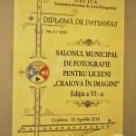 Salonul Municipal de Fotografie Craiova in imagini, editia VI - diploma de patronaj