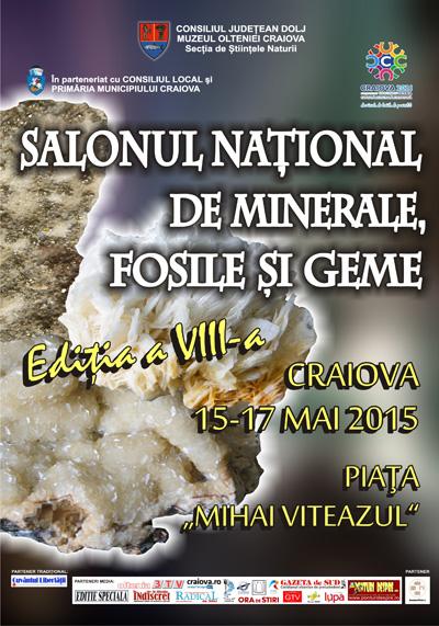 Afis Salonul National de Minerale Fosile si Geme 2015