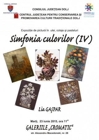 Afis Simfonia culorilor IV la Galeriile Cromatic