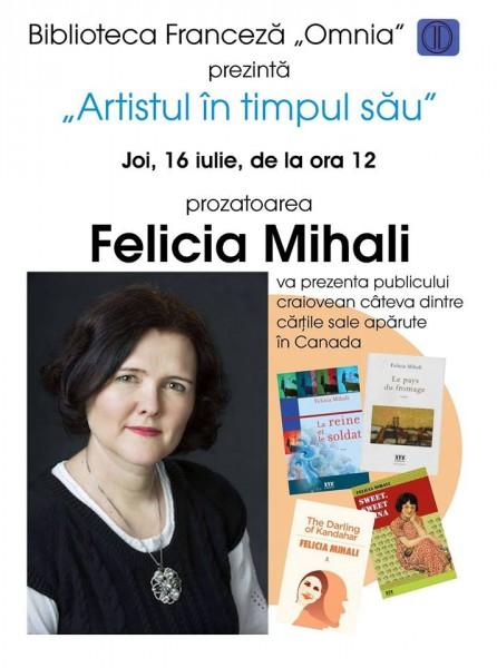 Felicia Mihali la Artistul in timpul sau