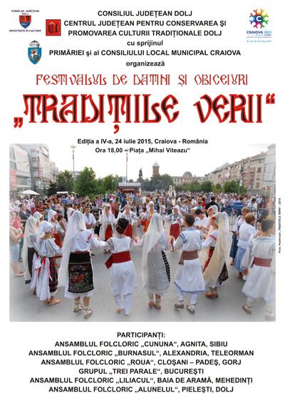 Afis Festival Traditiile verii 2015