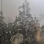 Delegatia Scolilor militare de infanterie, cavalerie, artilerie, geniu si marina, aducand omagiul lor domnitorului Barbu Stirbei