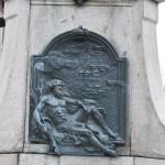 Monumentul Barbu Stirbei, Craiova - basorelief bronz Dunarea Romana