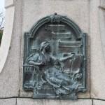 Monumentul Barbu Stirbei, Craiova - basorelief bronz Romania