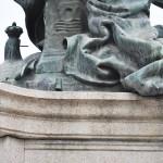 Monumentul Barbu Stirbei, Craiova - inscriptie autor