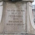 Monumentul Barbu Stirbei, Craiova - inscriptie soclu fata