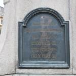 Monumentul Barbu Stirbei, Craiova - placa bronz spate