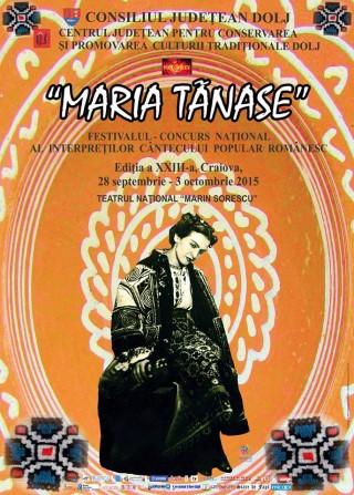 Afisul Festivalului – Concurs National al Interpretilor Cantecului Popular Romanesc Maria Tanase