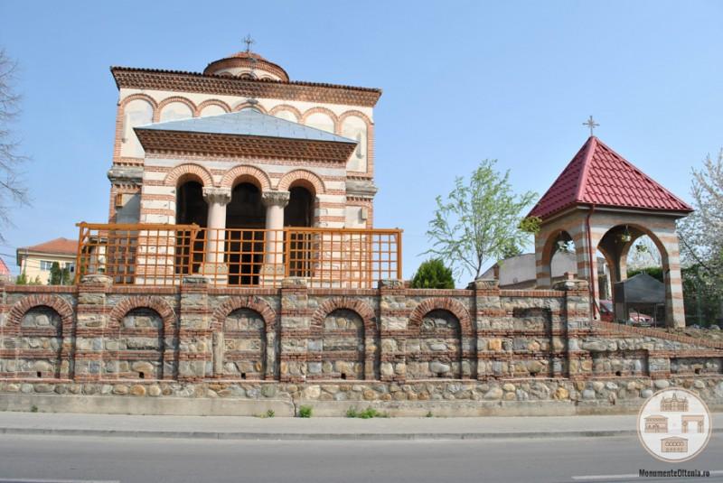 Biserica Sf Arhangheli Mihail si Gavriil, Craiova - vedere din str. Simion Barnutiu