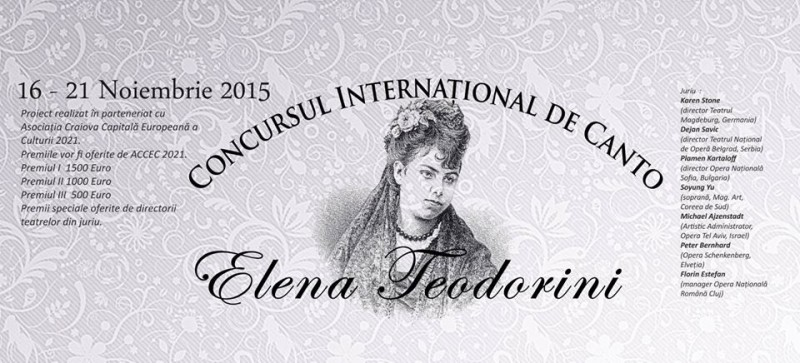 Concursul International de Canto Elena Teodorini Craiova 2015