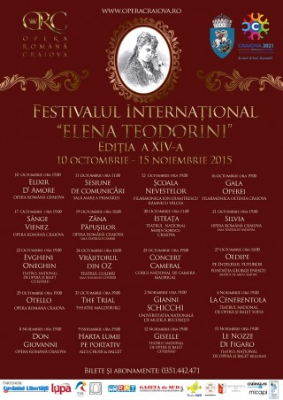 Festivalul Elena Teodorini - afis