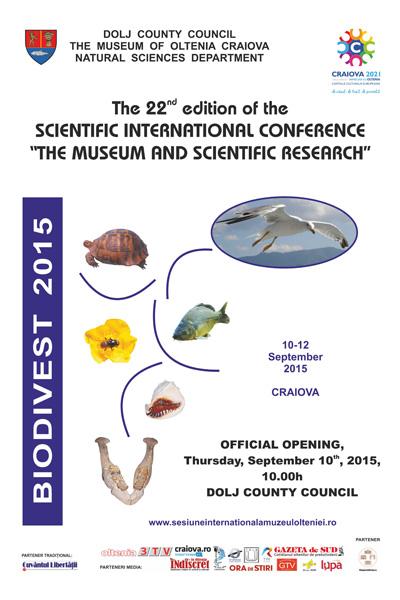 Afis conferinta Stiintele Naturii 10-12.09.2015