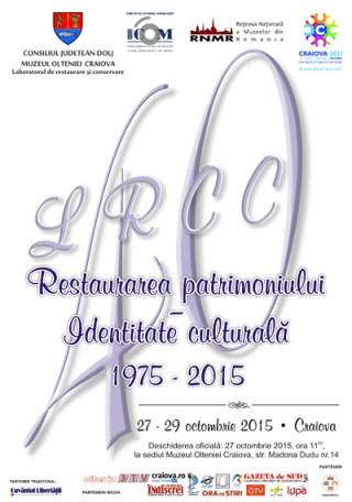 Afis Restaurarea patrimoniului - Identitate culturala