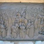 Monumentul Proclamatiei de la Pades - basorelief Adunarea de la Pades