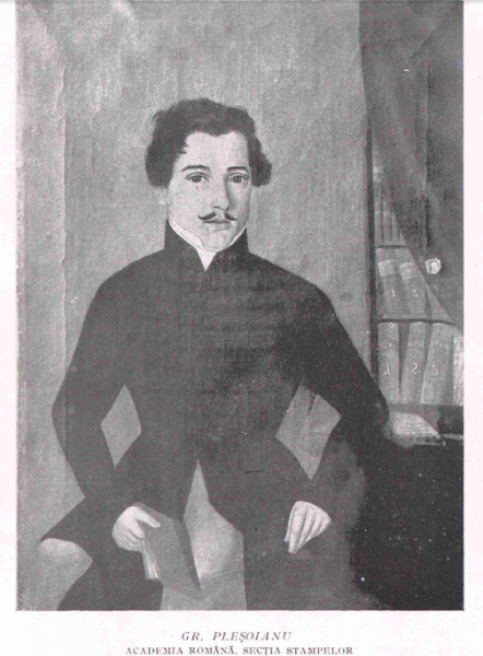Portret Grigore Plesoianu de Constantin Lecca