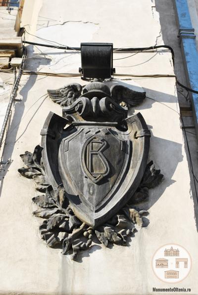 Banca Comertului - Primaria Municipiului Craiova - initialele institutie pe decoratiune exterioara