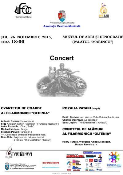 Concert al Filarmonicii Oltenia la Calafat