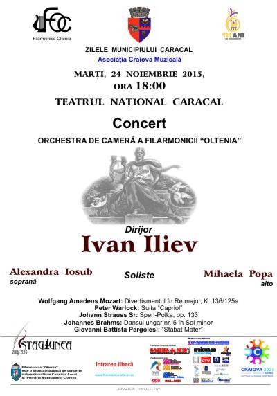 Concert al Filarmonicii Oltenia la Caracal