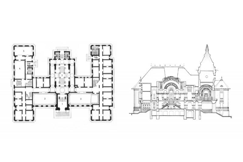 Palatul Administrativ Craiova - sectiuni