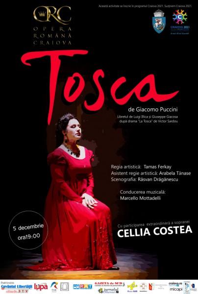 Tosca de Giacomo Puccini la Opera Romana din Craiova