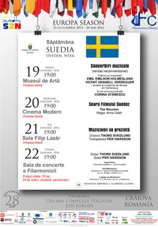 Program Saptamana Suedia la Stagiunea Europa